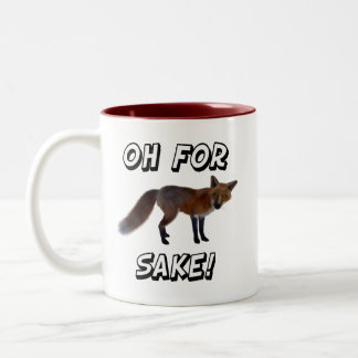 Oh For Fox Sake! Two-Tone Coffee Mug