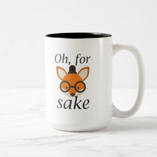 Oh, For Fox Sake Two-Tone Mug