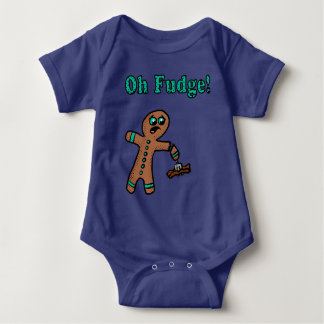 Oh Fudge Gingerbread Man Baby Bodysuit
