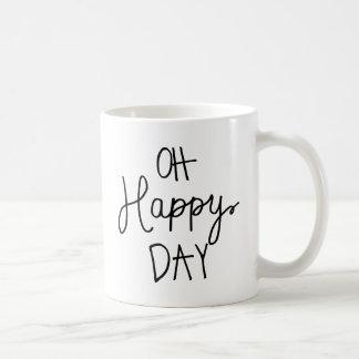 Oh Happy Day Basic White Mug