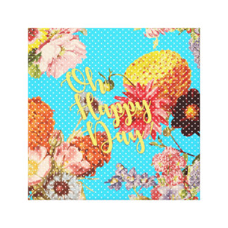 Oh Happy Day! - Blue Canvas Print