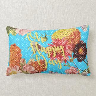 Oh Happy Day! - Blue Lumbar Cushion