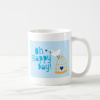 Oh Happy Day card and products with cute tweeting Mug
