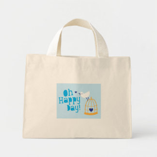 Oh Happy Day card and products with cute tweeting Canvas Bag