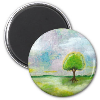 Oh Happy Day Design From Original Painting 6 Cm Round Magnet