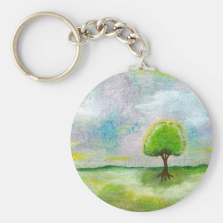 Oh Happy Day Design From Original Painting Basic Round Button Key Ring