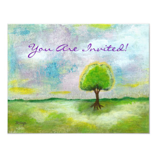 """Oh Happy Day Design From Original Painting 4.25"""" X 5.5"""" Invitation Card"""