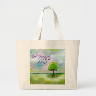 Oh Happy Day Design From Original Painting Jumbo Tote Bag