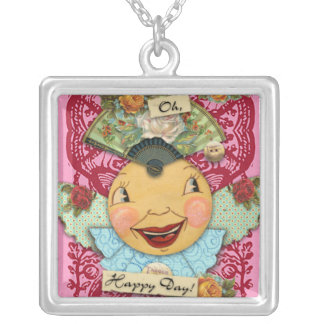 Oh Happy Day Square Pendant Necklace