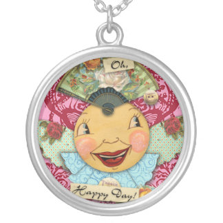 Oh Happy Day Round Pendant Necklace