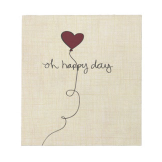 Oh happy day notepads