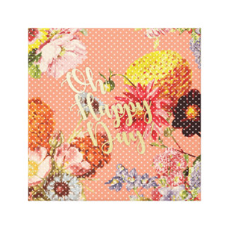Oh Happy Day! - Pink Canvas Print