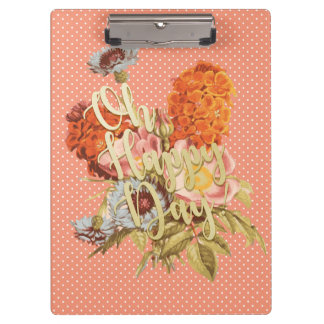 Oh Happy Day! - Pink Clipboard