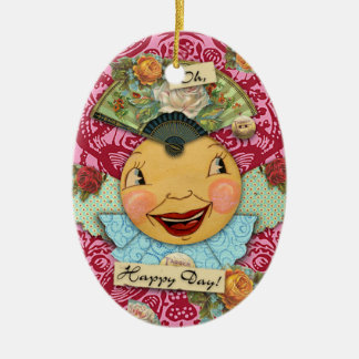 Oh Happy Day Porcelain Ornament