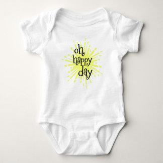 Oh, Happy Day Quote Baby Bodysuit