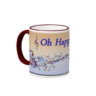 Oh Happy Day Ringer Mug