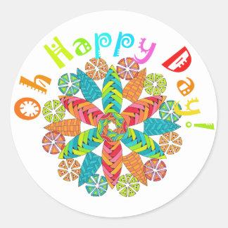 Oh Happy Day! Round Sticker