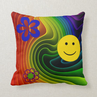 Oh Happy Day Smiley Face Pillow Cushion