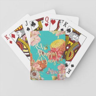 Oh Happy Day! - Teal Playing Cards