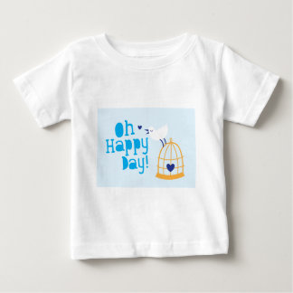 Oh Happy Day! with blue bird Infant T-Shirt