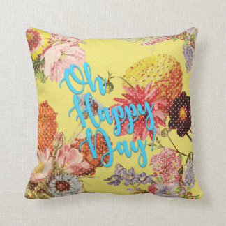 Oh Happy Day! Yellow Cushion