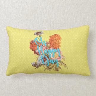 Oh Happy Day! Yellow Lumbar Cushion