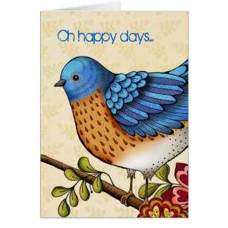 Oh Happy Days Greeting Card