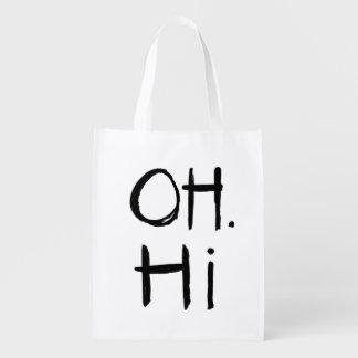 Oh. Hi | Black Brush Script Style
