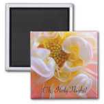 Oh Holy Night! magnet gifts Pink Dahlia Flower