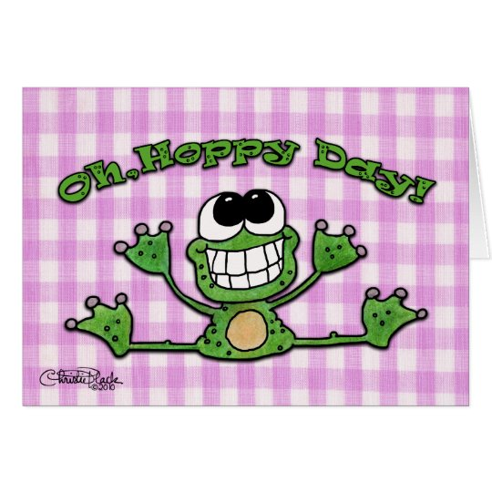 Oh, Hoppy Day-Frog Card