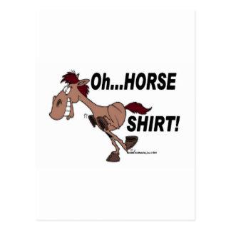 Oh Horse Shirt Postcard