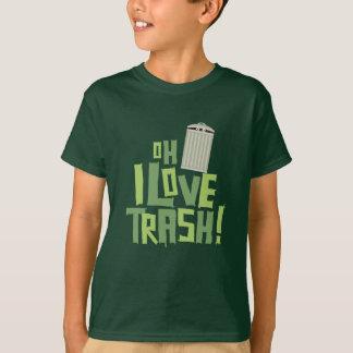 Oh I Love Trash Retro Pop Culture Graphic T-Shirt
