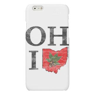 OH IO Typographic Ohio Vintage Red Buckeye Nut iPhone 6 Plus Case