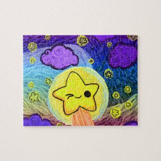 Oh Kawaii, Starry Rainbow Night Jigsaw Puzzle