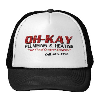 OH-KAY Plumbing & Heating (Distressed) Mesh Hats
