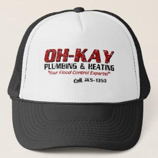 OH-KAY Plumbing & Heating (Distressed) Trucker Hat