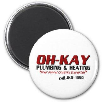 OH-KAY Plumbing Heating Magnet
