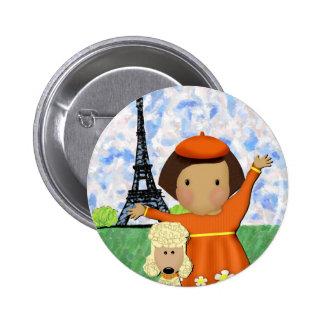 Oh La La Paris Button