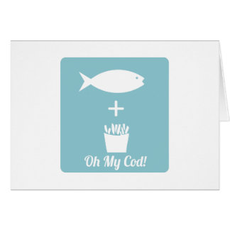 Oh My Cod Greeting Cards