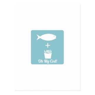 Oh My Cod Postcard