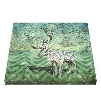 Oh My Deer~ Merry Christmas! | Wrapped Canvas Canvas Print