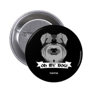 Oh My Dog Terrier 6 Cm Round Badge