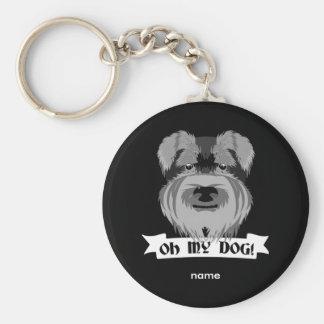 Oh My Dog Terrier Basic Round Button Keychain