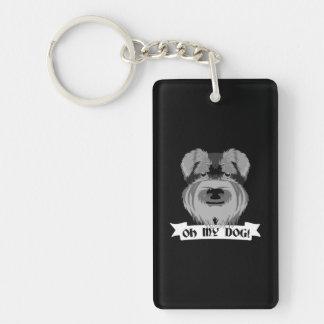 Oh My Dog Terrier Double-Sided Rectangular Acrylic Keychain