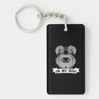 Oh My Dog Terrier Double-Sided Rectangular Acrylic Key Ring