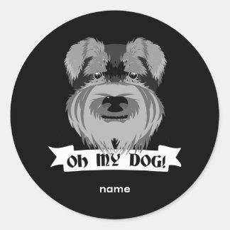 Oh My Dog Terrier Round Sticker