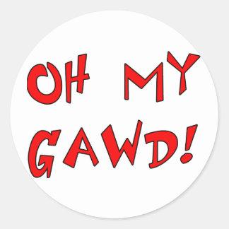 Oh My Gawd! OMG! Sticker