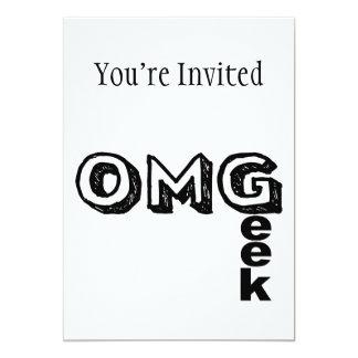Oh My Geek 13 Cm X 18 Cm Invitation Card