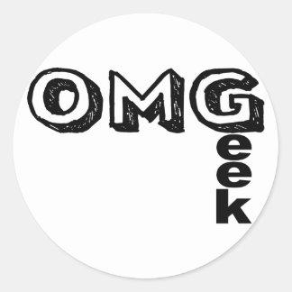 Oh My Geek Round Sticker