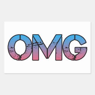Oh MY God Rectangular Sticker